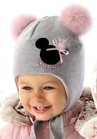 Детская теплая шапочка для девочки Miki, MARIKA (Польша)
