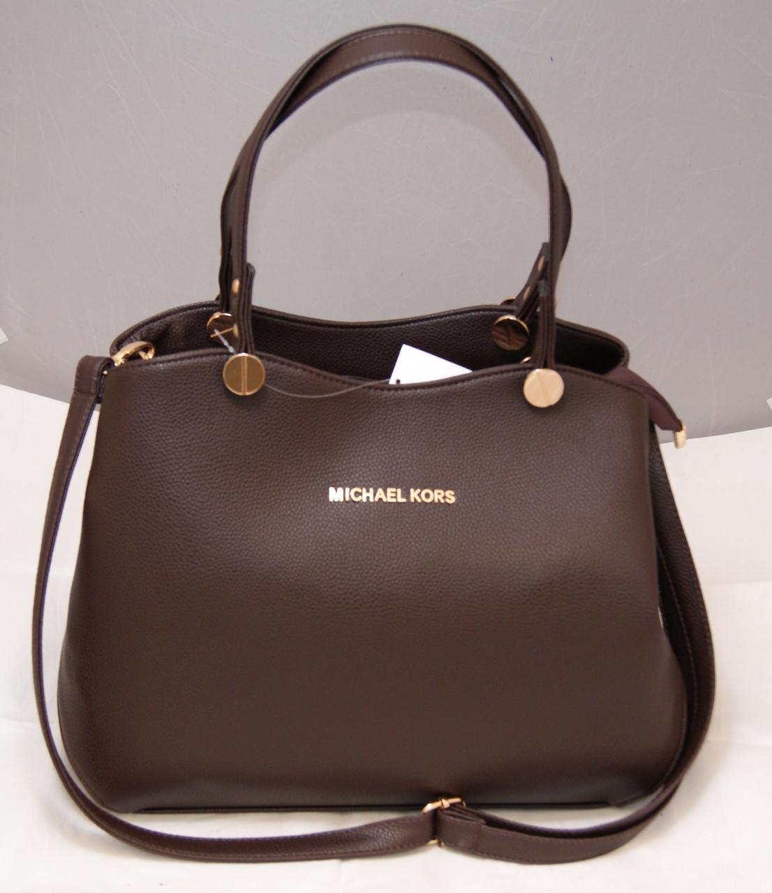c5b39c49aa36 Женская сумка Michael Kors, цвет коричневый шоколад Майкл Корс MK .