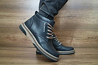 Подростковые зимние ботинки с нат.кожи Anser Синие 10487 Размер: 35 36 37 38 39