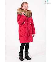 Пальто детское зимнее на девочку Злата Размеры 122- 164 Супер хит!