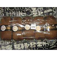 Турецкая пряжа для вязания Madame Tricote MERİNO GOLD 400 (мерино голд )меринос 60% шерсть 053 светло-коричн