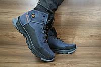 Подростковые зимние ботинки с нат.кожи Anser Синий\Черный 10488 Размер: 35 36 37 38 39
