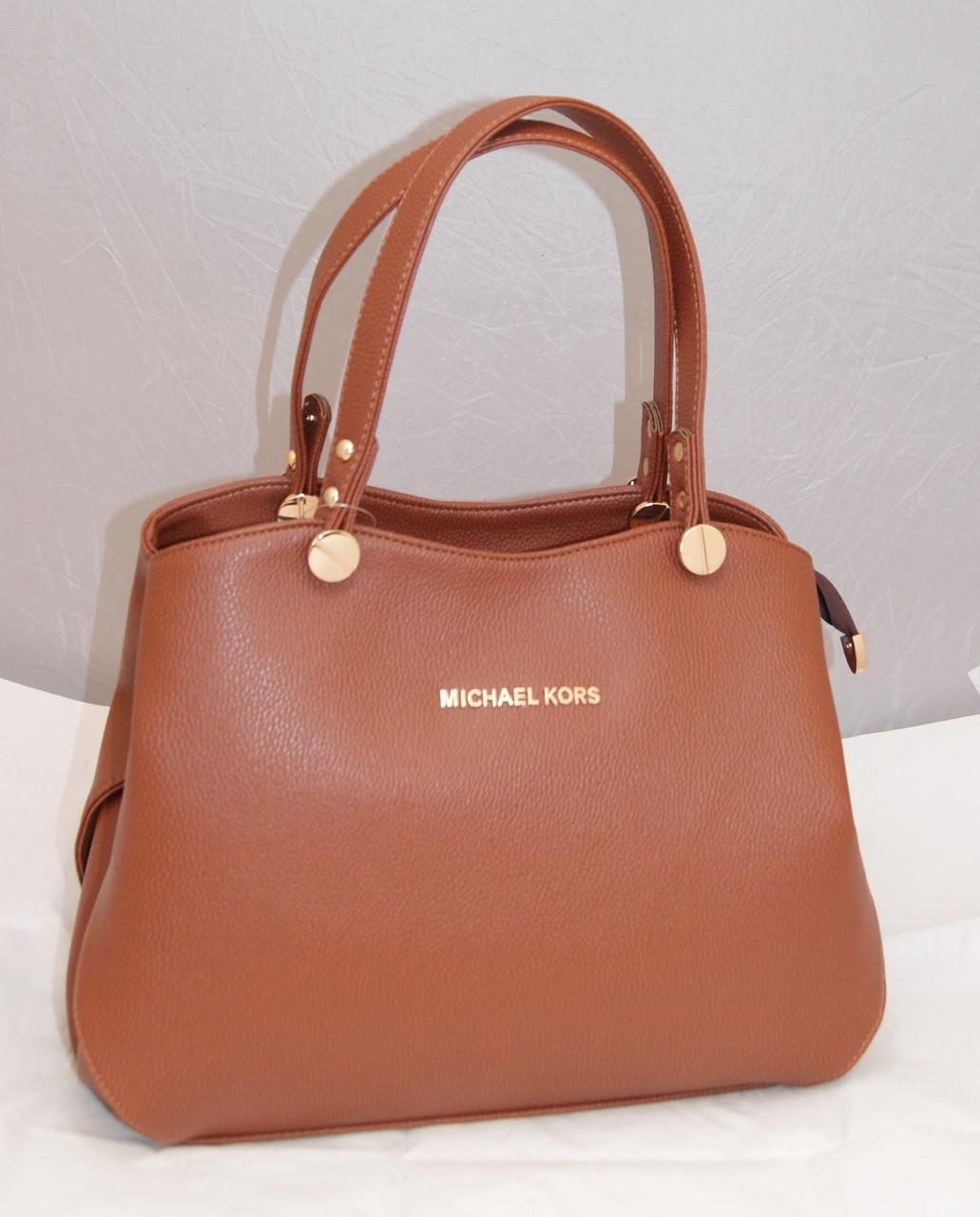 ba9801b52df0 Женская сумка Michael Kors, цвет светло-коричневый Майкл Корс MK -  Интернет-магазин