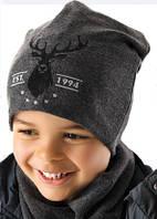 Детская теплая шапочка для мальчика Руперт, MARIKA (Польша)