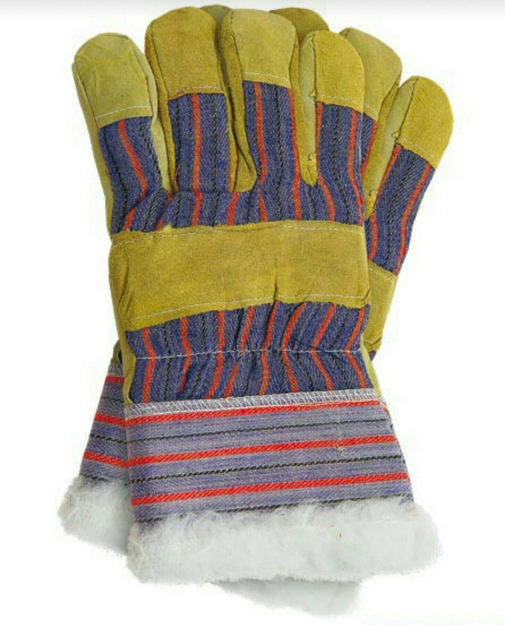 """Утепленные рабочие перчатки """"Замш Утепленный """""""