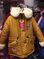 "Детская зимняя куртка на меху на девочку ""Teddy""  Размеры 30- 36"