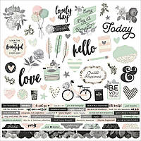 Наклейки - Simple Stories - Beautiful