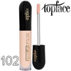 TopFace Блеск для губ Bright UP! PT-201 Тон 102 светлый персик полупрозрач.