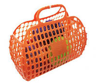 Корзинка с посудкой. 13 предметов (оранжевая)