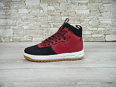 Кроссовки мужские Найк Nike Lunar Force Duckboot Bordo, фото 2