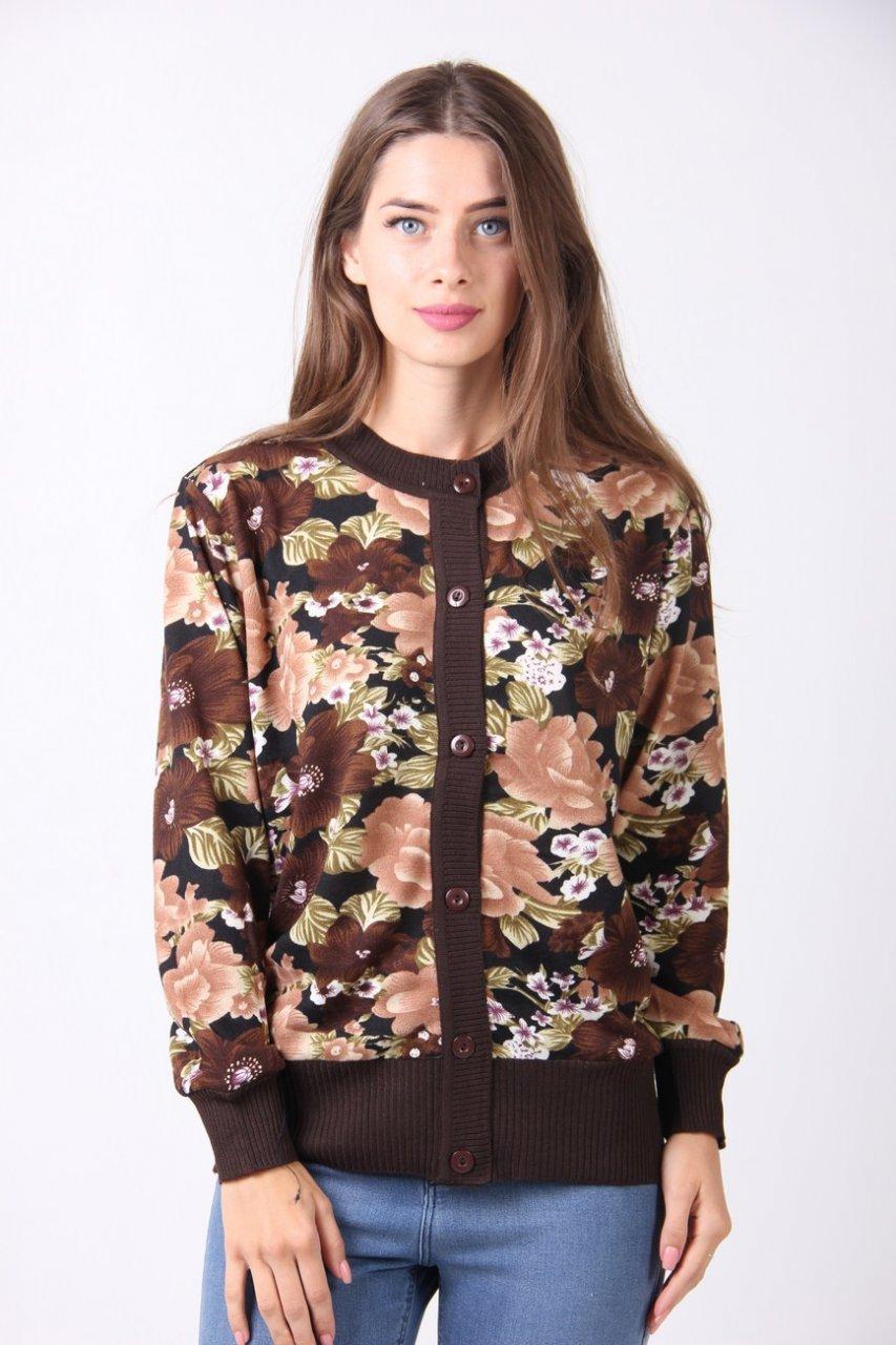 красивая женская вязаная кофта в цветах цена 260 грн купить в