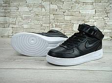 Кроссовки мужские Найк Nike Lab Air Force 1 Mid Leather. ТОП Реплика ААА класса., фото 3