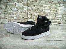 Кроссовки мужские Найк Nike Air Force 1 Black/White. ТОП Реплика ААА класса., фото 3