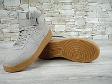 """Кроссовки мужские Найк Nike Air Force Hi Grey """"Suede Spring"""". ТОП Реплика ААА класса., фото 2"""
