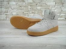 """Кроссовки мужские Найк Nike Air Force Hi Grey """"Suede Spring"""". ТОП Реплика ААА класса., фото 3"""