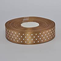 Лента атласная в горошек, шириной 0,6 см