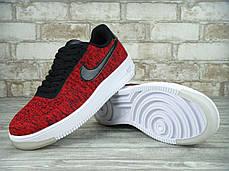 Кроссовки мужские Найк Nike Air Force 1 Low Ultra Flyknit Red, фото 3
