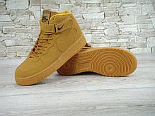 Кроссовки мужские Найк Nike Air Force 1 light brown. ТОП Реплика ААА класса., фото 3