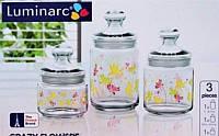 Набор банок 3шт. Luminarc Crazy Flowers 1632n-9942h