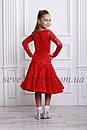 Рейтинговое платье Бейсик для бальных танцев Sevenstore 9112 Красное, фото 2