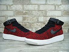 "Кроссовки мужские Найк Nike Air Force 1 Ultra Flyknit Mid ""Wine Red/Black. ТОП Реплика ААА класса., фото 3"