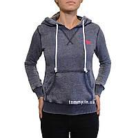 Женская капюшонка серо-фиолетовая Tommy Hilfiger
