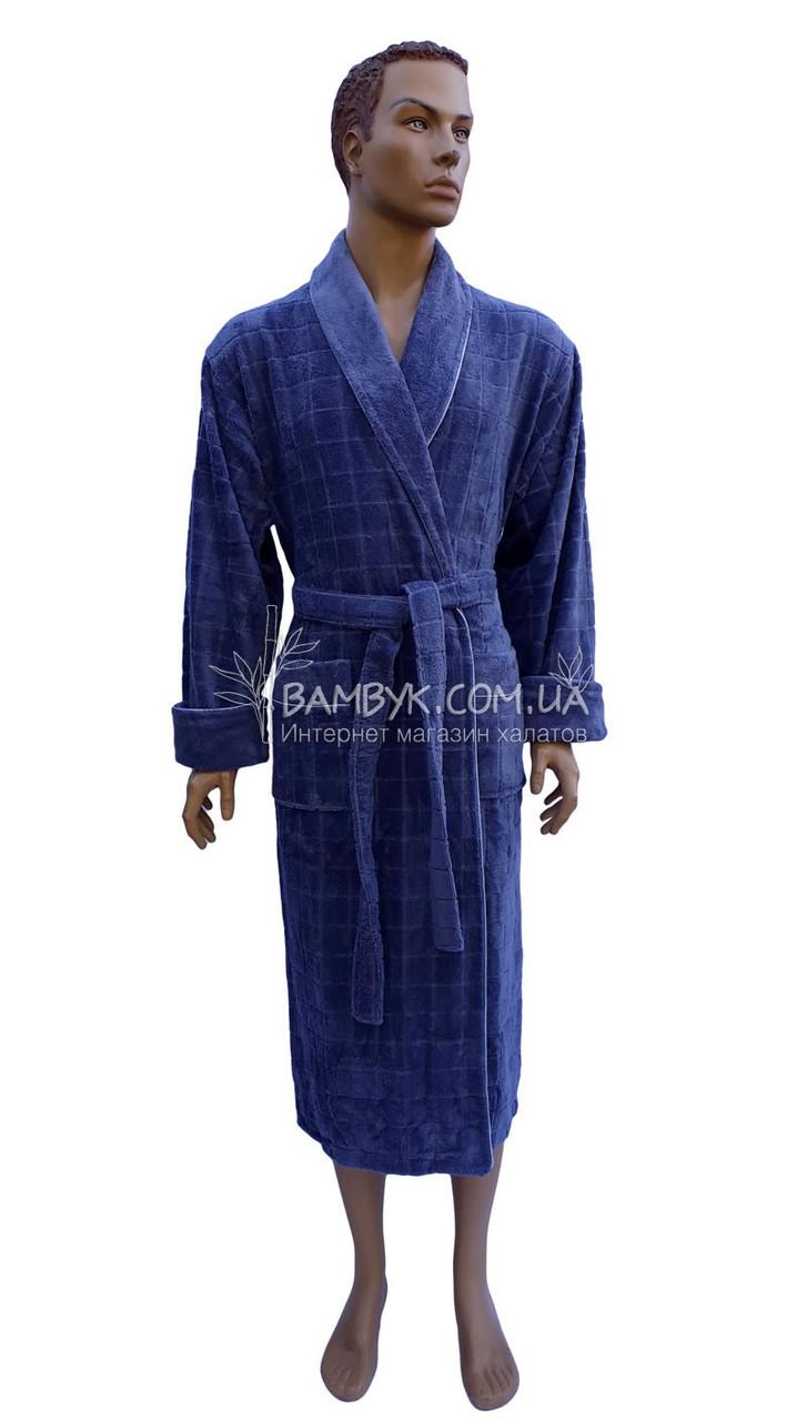 Халат мужской бамбуковый Nusa (джинсовый) №2860