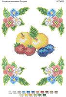 Схема для вышивки бисером БСР-4252. САЛФЕТКА К ПРАЗДНИКУ СПАСА