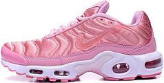 Кроссовки женские Найк Nike Air Max Plus TN Pink. ТОП Реплика ААА класса.
