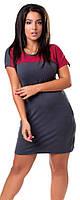 Стильное мини-платье из вискозы