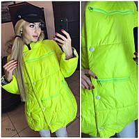 Женская куртка удлиненная на синтепоне (осень-зима) 757 ол
