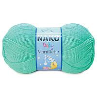 Пряжа для ручного вязания Nako Ninni bebe(нинни беби)-антиаллергенный детский акрил-116 изумруд