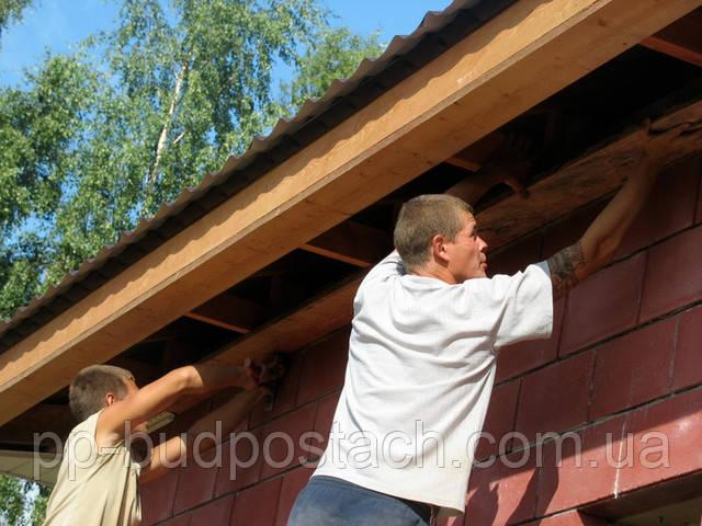 Подшивка карниза крыши, как сделать карниз крыши самостоятельно