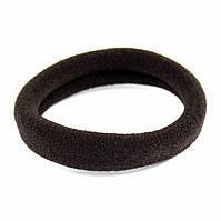 Резинка для волос бесшовная темно-коричневая