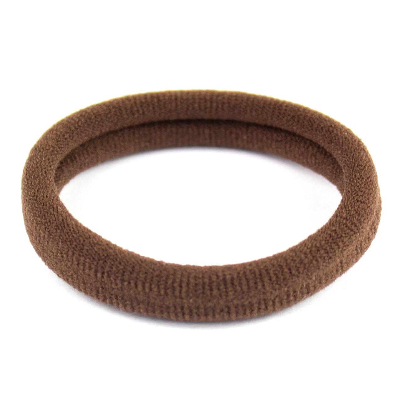 Резинка для волос бесшовная коричневая