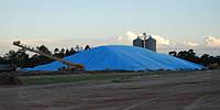 Накрытие зерна большой площади