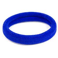 Резинка для волос бесшовная синяя