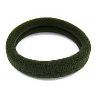 Резинка для волос бесшовная темно-зеленая