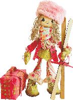 """Набор для шитья Текстильная каркасная кукла """"Лыжница"""""""