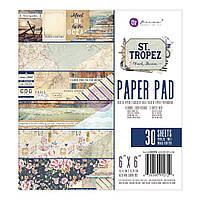 Набор бумаги 15х15см Prima Marketing Double-Sided Paper Pad - St. Tropez