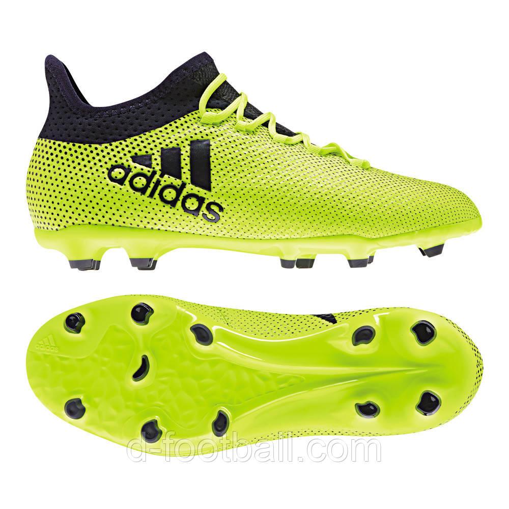 Футбольные детские бутсы Adidas X 17.1 FG S82297 - Интернет-магазин  «D-Football dcf92f04b2e
