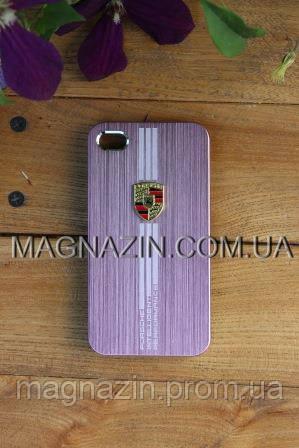 "Чехол iPhone 4, ""Porsche"" rose"