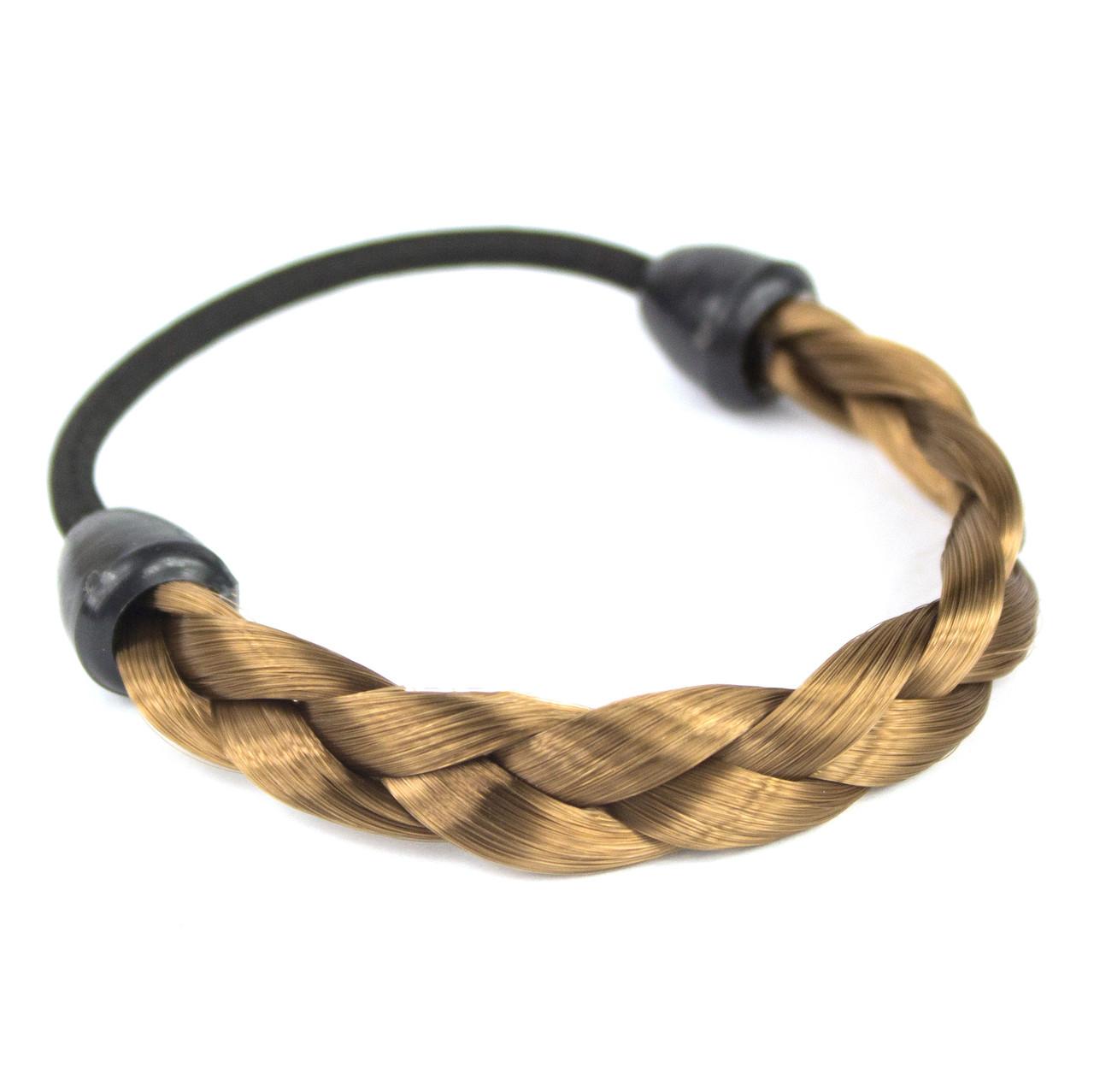 Резинка для волос с синтетической косичкой 8 Русый