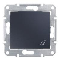 Выключатель одноклавишный кнопочный Звонок, графит Sedna Schneider Electric SDN0800170