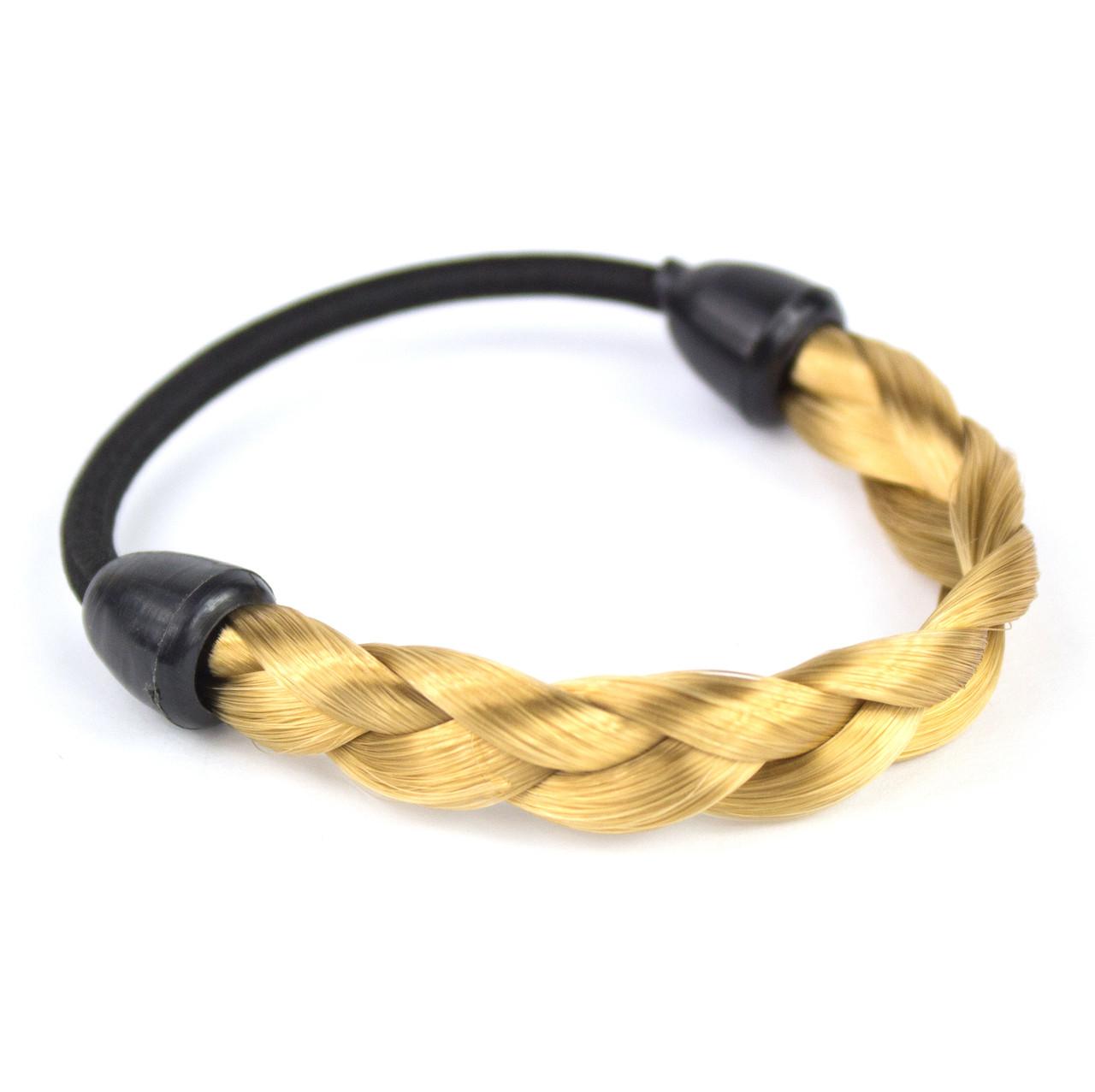 Резинка для волос с синтетической косичкой Пшеничный