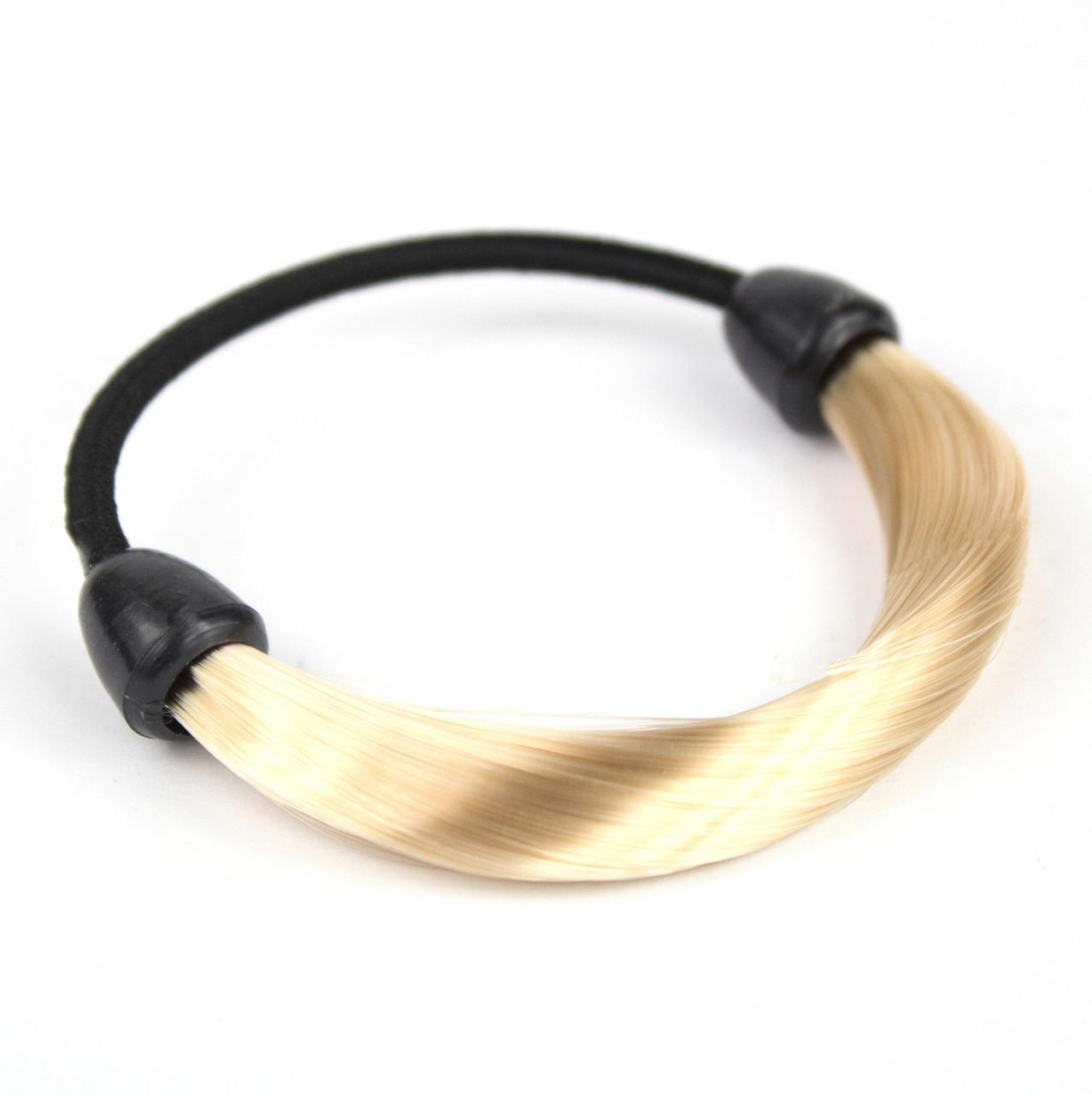 Резинка для волос с синтетическими волосами Блонд