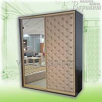 Шкаф-купе 2-х дверный с зеркалом и мягкой дверью
