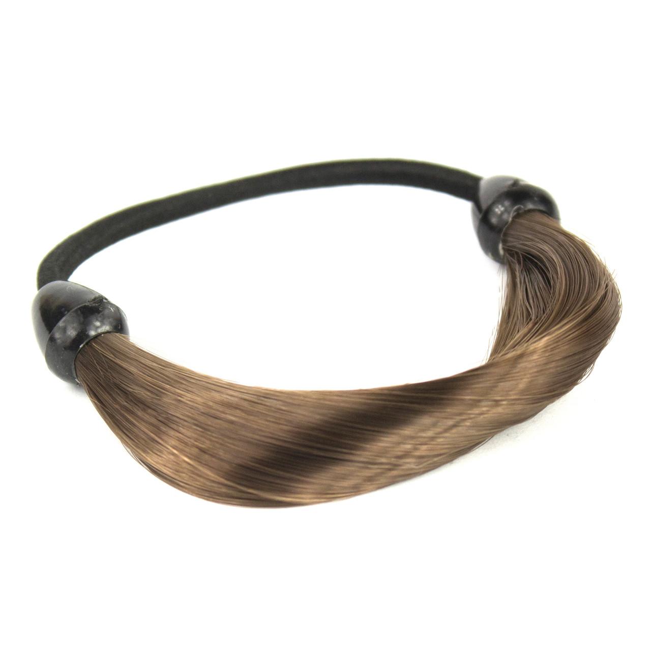 Резинка для волос с синтетическими волосами Русый