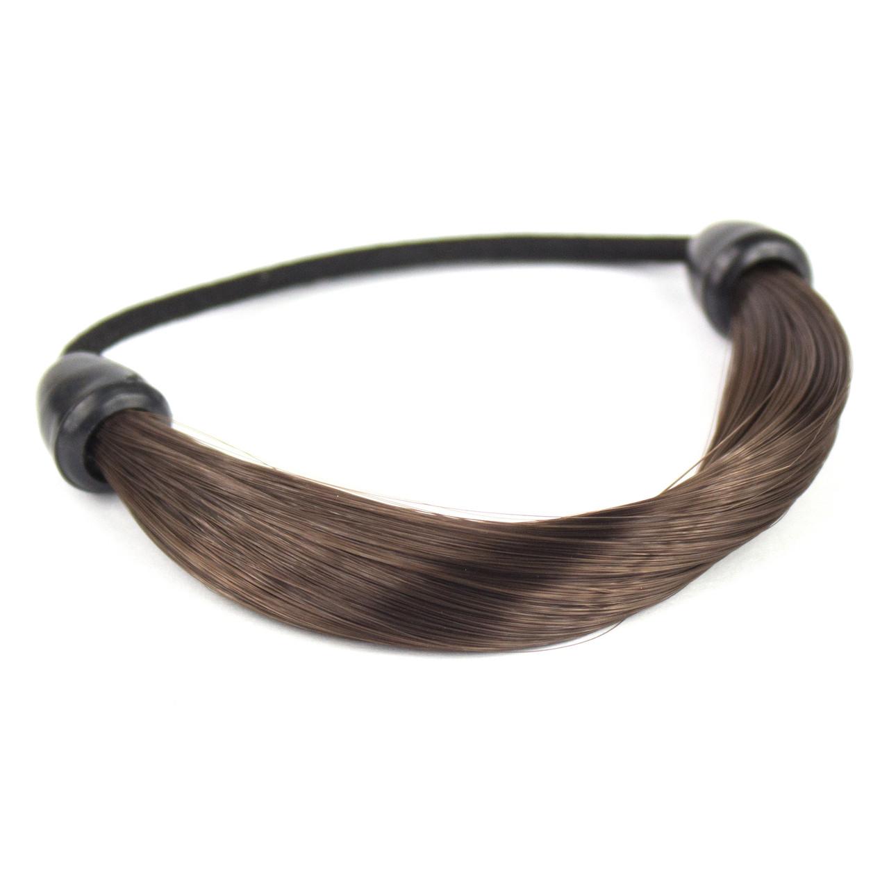 Резинка для волос с синтетическими волосами Шоколад