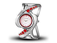 Жіночі кварцові годинники-браслет CANSNOW  Срібний, червоний